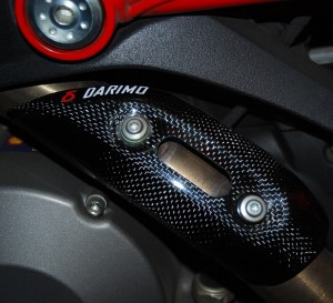 Darimo Carbon Fiber Ducati Eshaust Protector Escape Fibra Carbono